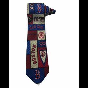 MLB Boston Red Sox Baseball Silk Logo Vintage Tie